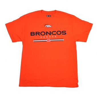 Denver Broncos Majestic Orange Critical Victory VI Tee Shirt (Adult XL)