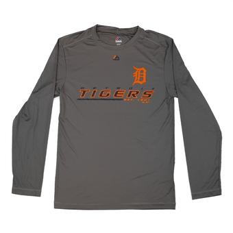 Detroit Tigers Majestic Gray Sweep Dreams Performance Long Sleeve Shirt (Adult XXL)