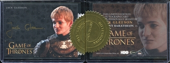2015 Game of Thrones Season Four Case-Incentives #1 Jack Gleeson as Joffrey Baratheon Gold
