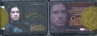 2015 Game of Thrones Season Four Case-Incentives #2 Kit Harington as Jon Snow Gold