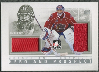 2009/10 ITG Heroes and Prospects #HP01 Patrick Roy & Carey Price Hero and Prospect Jersey /30