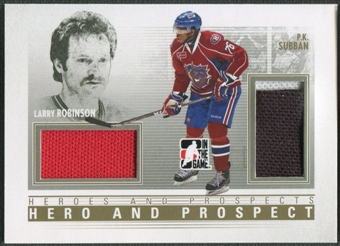 2009/10 ITG Heroes and Prospects #HP08 Larry Robinson & P.K. Subban Hero and Prospect Gold Jersey /10