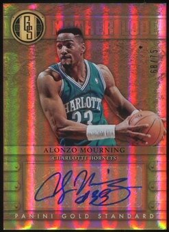 2012-13 Panini Gold Standard Mother Lode Autographs #12 Alonzo Mourning Serial #68/75