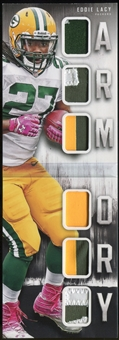 2014 Panini Playbook Armory Jerseys #4 Eddie Lacy Serial #14/25 Green Bay Packers