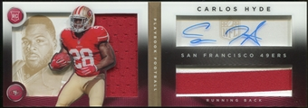 2014 Panini Playbook Gold #152 Carlos Hyde RC JSY AU Serial #30/99