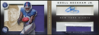 2014 Panini Playbook Gold #139 RC Odell Beckham Jr. JSY AU Serial #60/99