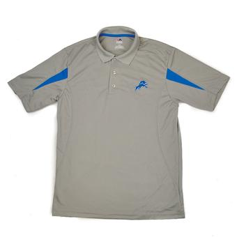 Detroit Lions Majestic Gray Field Classic Cool Base Performance Polo (Adult M)