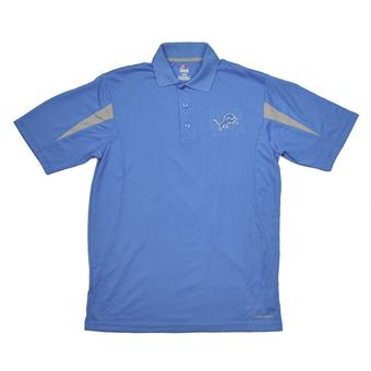 Detroit Lions Majestic Blue Field Classic Cool Base Performance Polo (Adult M)