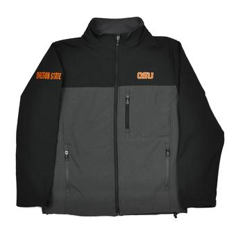 Oregon State Beavers Colosseum Black & Grey Yukon II Full Zip Jacket (Adult XXL)