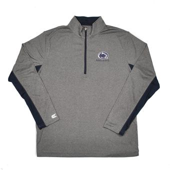 Penn State Nittany Lions Colosseum Grey Stinger 1/4 Performance Long Sleeve Tee Shirt (Adult XXL)