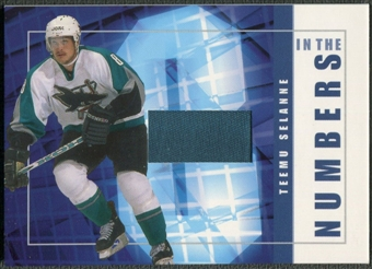 2001/02 BAP Signature Series #ITN8 Teemu Selanne In The Numbers Patch /10