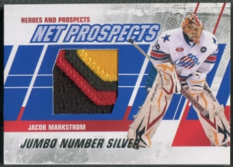 2010/11 ITG Heroes and Prospects #NPM10 Jacob Markstrom Net Prospects Jumbo Silver Number /3