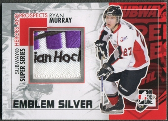 2010/11 ITG Heroes and Prospects #SSM22 Ryan Murray Subway Series Silver Emblem /3