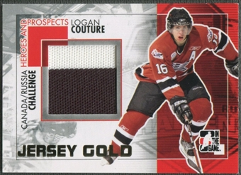 2010/11 ITG Heroes and Prospects #CRM35 Logan Couture Subway Series Gold Jumbo Jersey /10