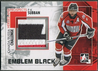 2010/11 ITG Heroes and Prospects #CRM33 P.K. Subban Subway Series Black Emblem /6