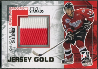 2010/11 ITG Heroes and Prospects #CRM32 Steven Stamkos Subway Series Gold Jumbo Jersey /10