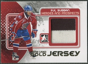 2010/11 ITG Heroes and Prospects #M36 P.K. Subban Game Used Gold Jersey /10