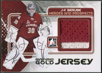 2010/11 ITG Heroes and Prospects #M18 Jean-Francois Berube Game Used Gold Jersey /10