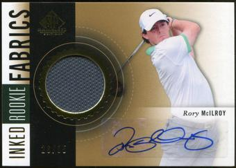 2014 Upper Deck SP Game Used Inked Rookie Fabrics #IRFRM Rory McIlroy 26/35