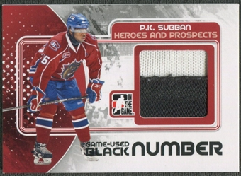 2010/11 ITG Heroes and Prospects #M36 P.K. Subban Game Used Black Number /6