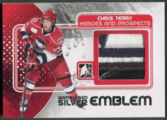 2010/11 ITG Heroes and Prospects #M08 Chris Terry Game Used Silver Emblem /3