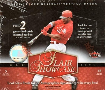2006 Fleer Flair Showcase Baseball Hobby Box