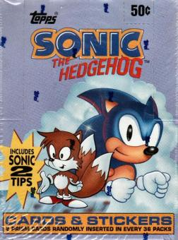 Sonic the Hedgehog Hobby Box (1993 Topps)