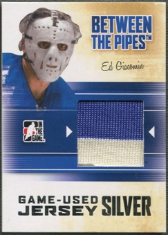 2010/11 Between The Pipes #M69 Ed Giacomin Game Used Silver Jersey /20