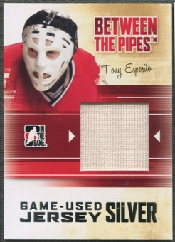 2010/11 Between The Pipes #M77 Tony Esposito Game Used Silver Jersey /20