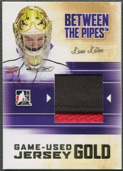2010/11 Between The Pipes #M38 Liam Liston Game Used Gold Jersey /10