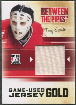 2010/11 Between The Pipes #M77 Tony Esposito Game Used Gold Jersey /10