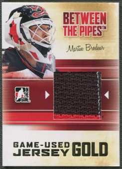 2010/11 Between The Pipes #M41 Martin Brodeur Game Used Gold Jersey /10