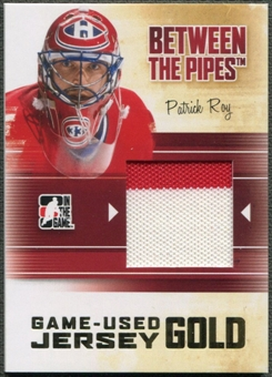 2010/11 Between The Pipes #M74 Patrick Roy Game Used Gold Jersey /10
