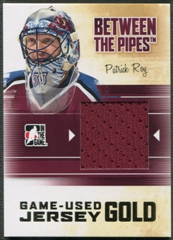 2010/11 Between The Pipes #M75 Patrick Roy Game Used Gold Jersey /10