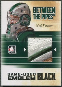 2010/11 Between The Pipes #M36 Kent Simpson Game Used Black Emblem /6