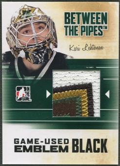 2010/11 Between The Pipes #M35 Kari Lehtonen Game Used Black Emblem /6