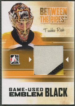 2010/11 Between The Pipes #M67 Tuukka Rask Game Used Black Emblem /6