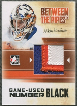 2010/11 Between The Pipes #M45 Mikko Koskinen Game Used Black Number /6