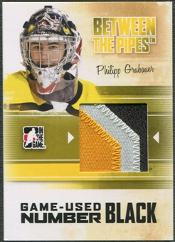 2010/11 Between The Pipes #M49 Philipp Grubauer Game Used Black Number /6