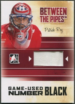 2010/11 Between The Pipes #M74 Patrick Roy Game Used Black Number /6