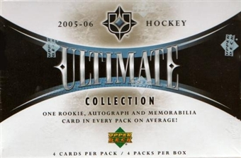 2005/06 Upper Deck Ultimate Collection Hockey Hobby 4-Box Case