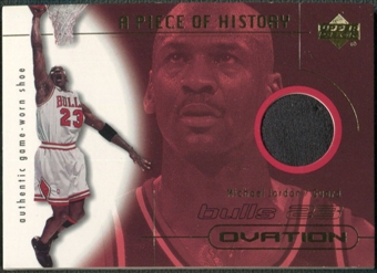2000/01 Upper Deck Ovation #MJS Michael Jordan A Piece of History Shoe