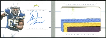 2013 Panini National Treasures Jumbo Prime Booklet Signatures #5 Antonio Gates 5/25