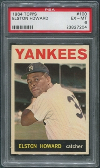 1964 Topps Baseball #100 Elston Howard PSA 6 (EX-MT)