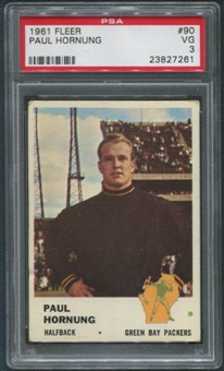 1961 Fleer Football #90 Paul Hornung PSA 3 (VG)