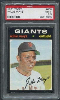 1971 Topps Baseball #600 Willie Mays PSA 7.5 (NM+)