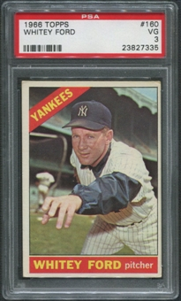 1966 Topps Baseball #160 Whitey Ford PSA 3 (VG)