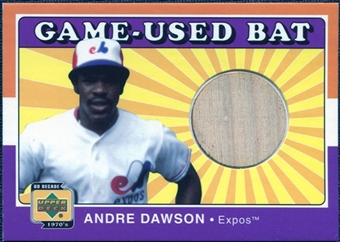 2001 Upper Deck Decade 1970's Game Bat #BAD Andre Dawson