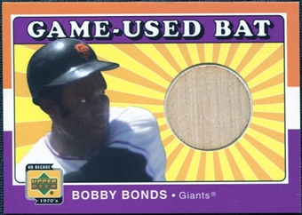 2001 Upper Deck Decade 1970's Game Bat #BBB Bobby Bonds