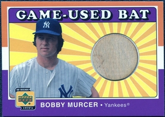 2001 Upper Deck Decade 1970's Game Bat #BBOM Bobby Murcer